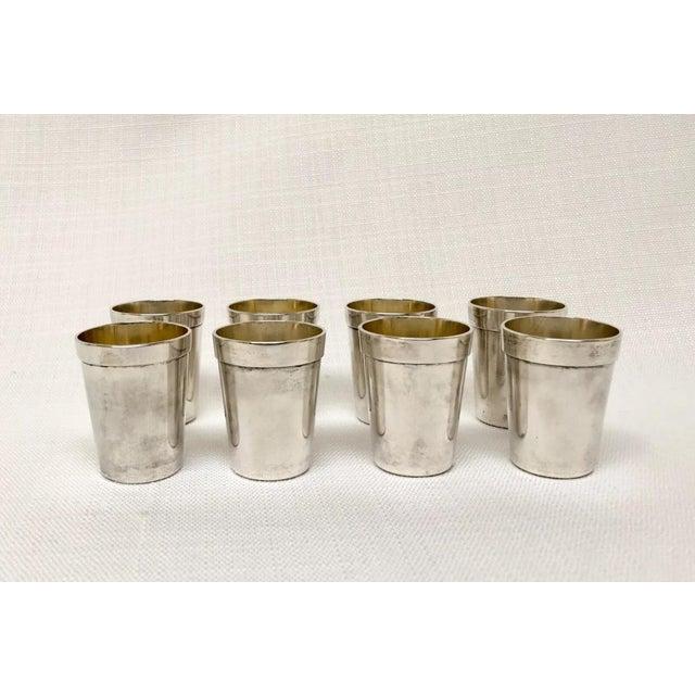 Vintage Sterling Sake Cups - Set of 8 For Sale - Image 9 of 9
