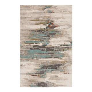 Jaipur Living Ryenn Handmade Abstract Gray Blue Area Rug 6'X9' For Sale