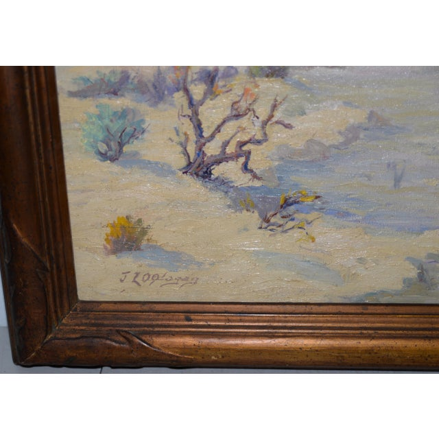 "Impressionism ""Red Mesa, Az"" Original Desert Landscape Painting C.1940s For Sale - Image 3 of 13"