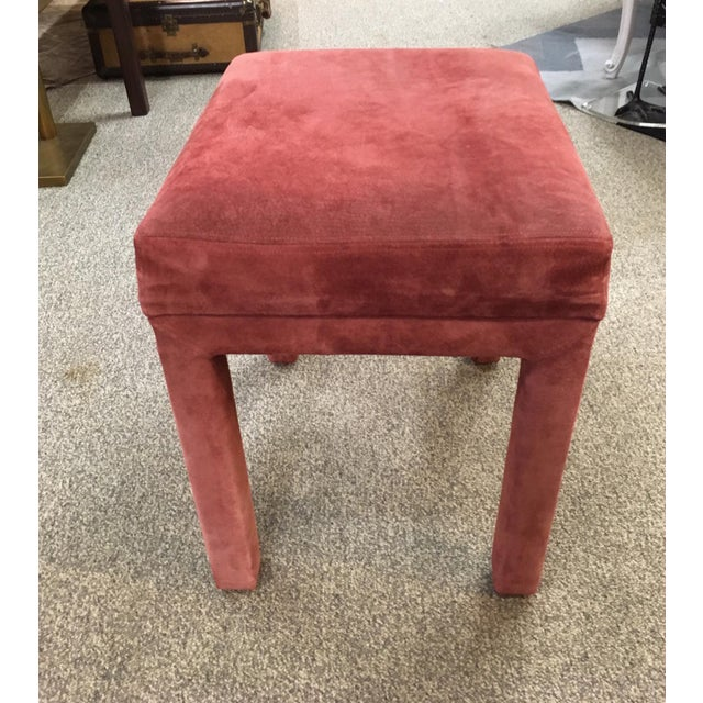 Back Gammon Table and Pair of Benches-Mauve Suede For Sale In New York - Image 6 of 7