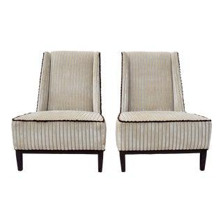 Thayer Coggin Nolita Armless Chairs, Pair For Sale