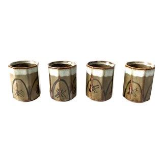 Stoneware Sake Cups, set of 4
