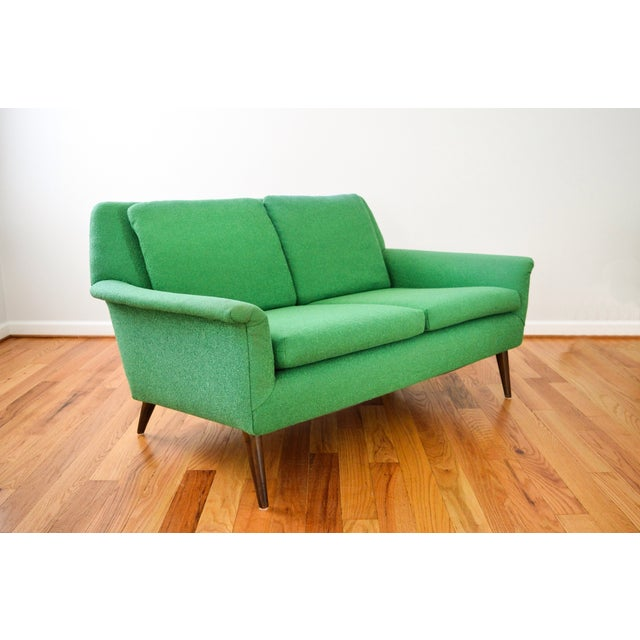 Mid-Century Folke Ohlsson Green Loveseat Sofa For Sale - Image 5 of 8