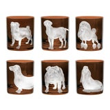 Image of ARTEL Dog Collection Set of Double Old Fashioned Glasses, Walnut, Set of 6 For Sale