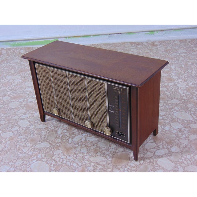 1930s 1930s Vintage Zenith Brown Radio For Sale - Image 5 of 12