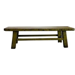 Antique Inspired Green Bench For Sale