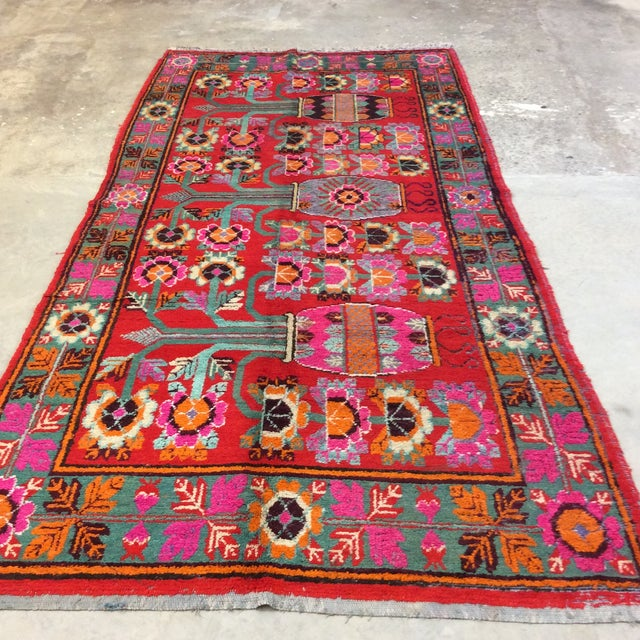 1920s Vintage Chinese Khotan Rug - 4'9x10' For Sale - Image 5 of 13