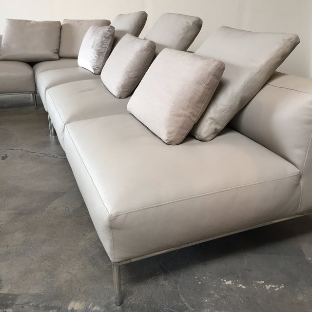 B&B Italia 'Frank' Leather Sectional For Sale - Image 5 of 8