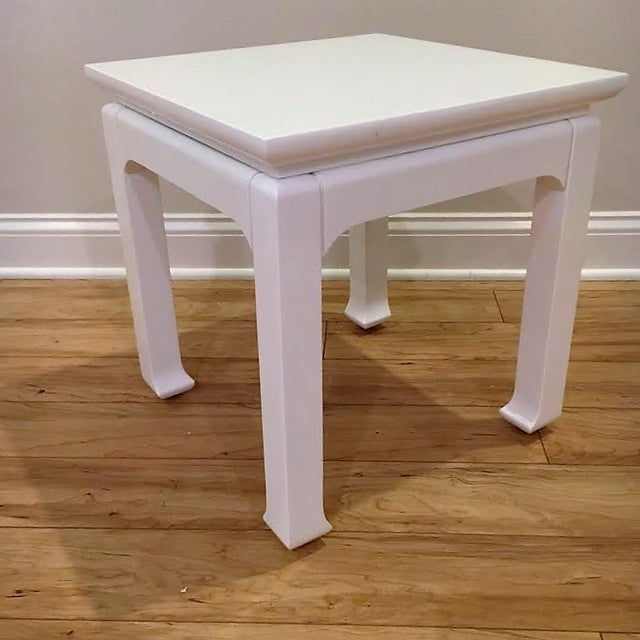 White Lacquered Tea Tables - A Pair - Image 4 of 4