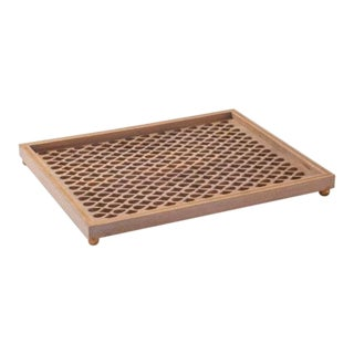 Asian Global Views Gem Lattice Tray For Sale