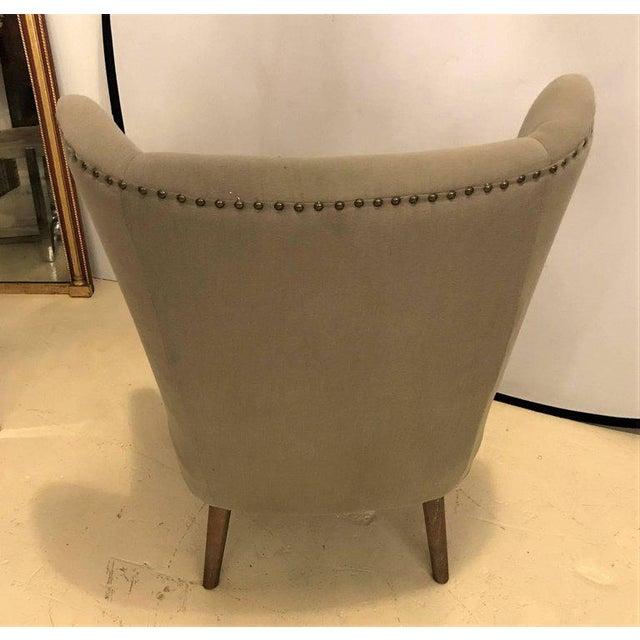 Mid-Century Modern Style Papa Bear Style Armchair | Chairish