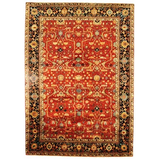 Pasargad Traditional Fine Serapi Design Hand-Knotted Rug - 10' X 14' For Sale