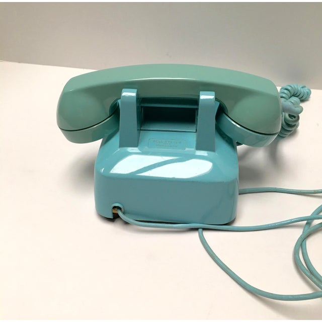 Vintage Turquoise Blue Dial Desk Telephone - Image 5 of 6