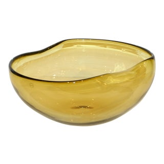 1970s Vintage Salviati Italian Murano Art Glass Bowl For Sale