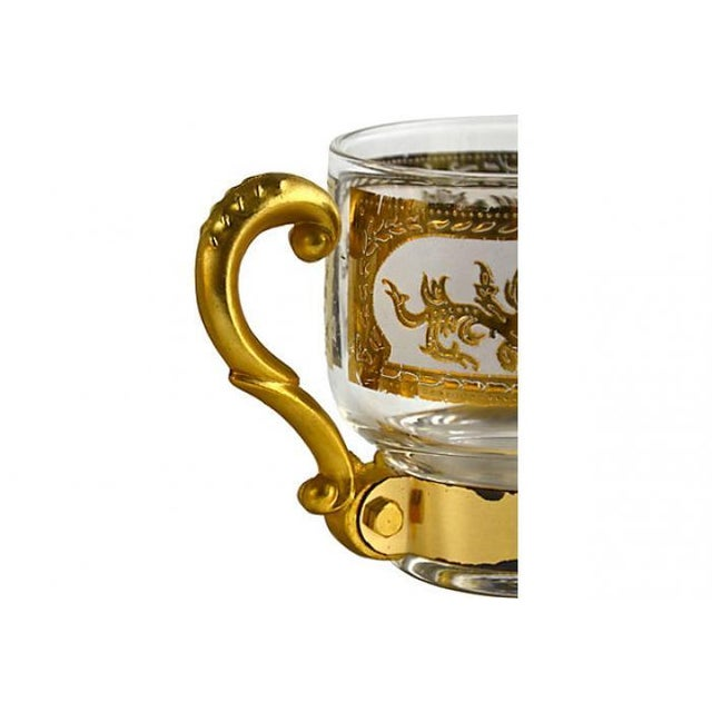 Italian Golden Pitcher & Three Mugs - Image 5 of 7