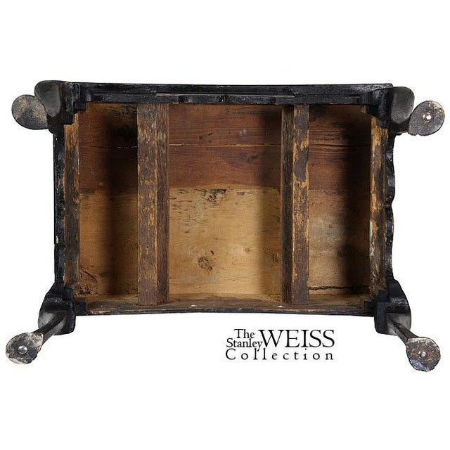 Black Lacquer Queen Anne Chinoiserie Dressing Table - Image 8 of 8
