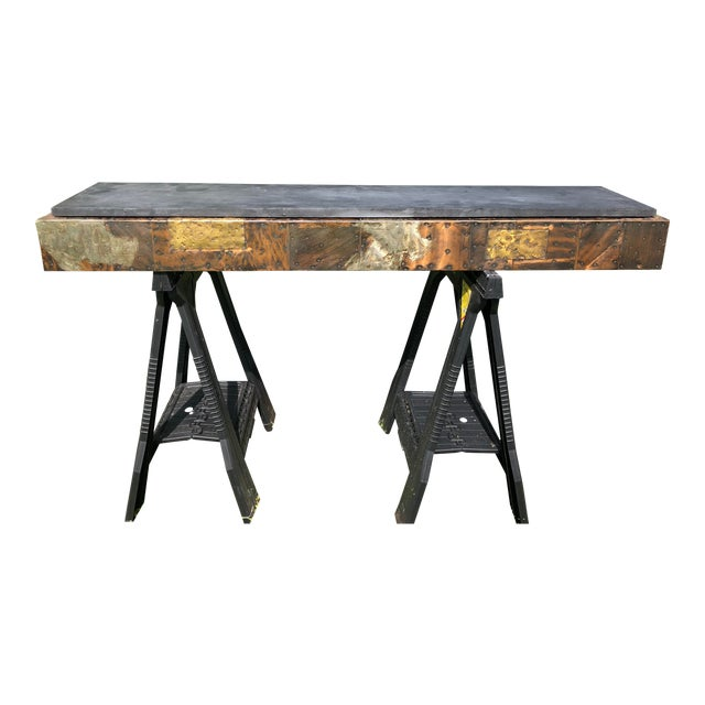 1970s Mid-Century Vintage Paul Evans for Directional Pe17 Wall Mounted Console Table For Sale