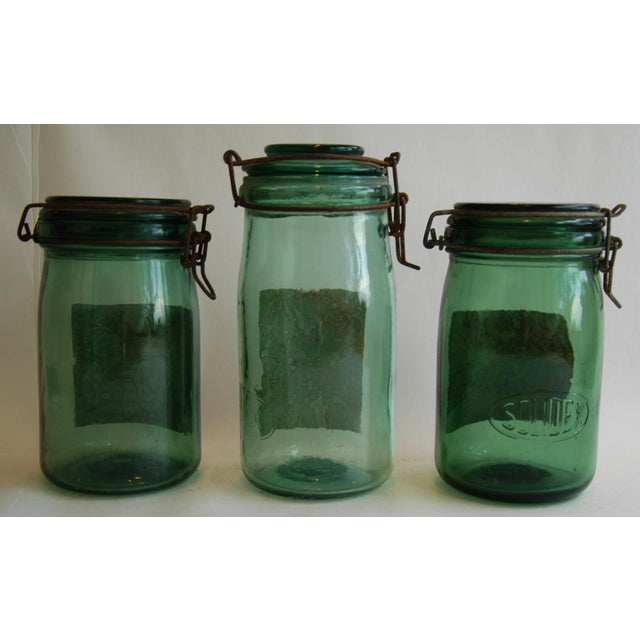 1930s French Canning Preserve Jars - Set of 3 - Image 7 of 8