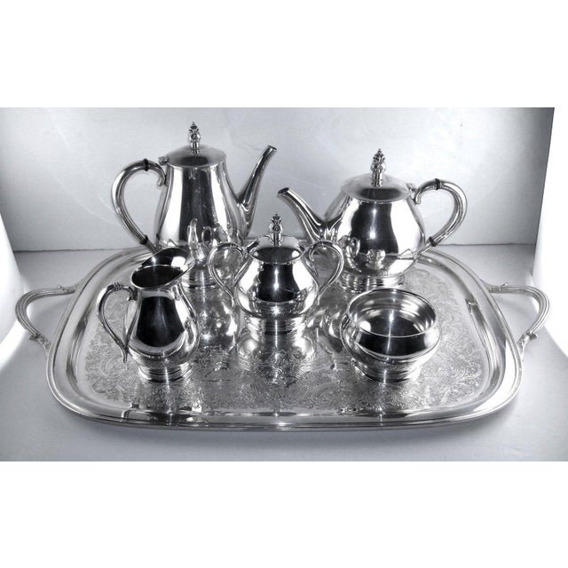 Metal Sterling International Tea Set (6pc.) Royal Danish Pattern For Sale - Image 7 of 7