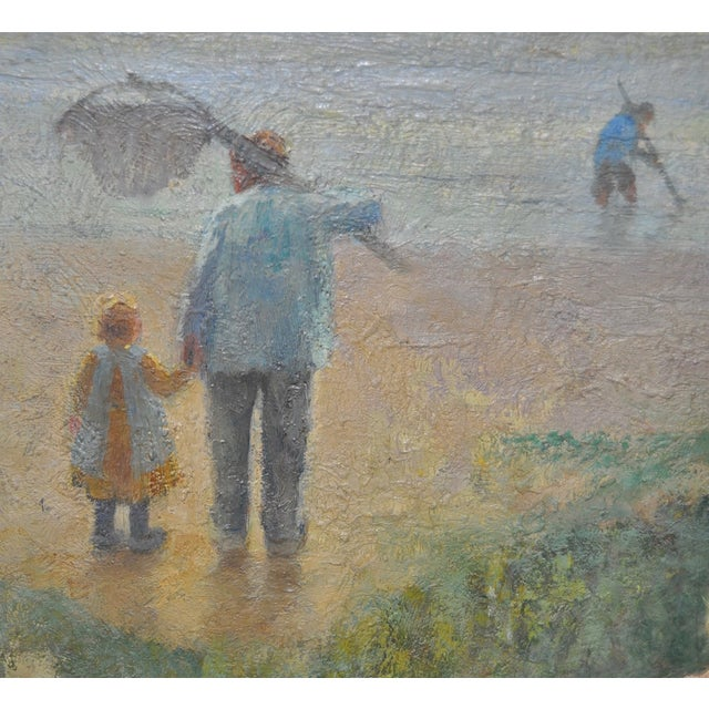 Carl Mulertt (1869-1915) Impressionist Oil Painting Mother & Child C.1910 For Sale - Image 4 of 6