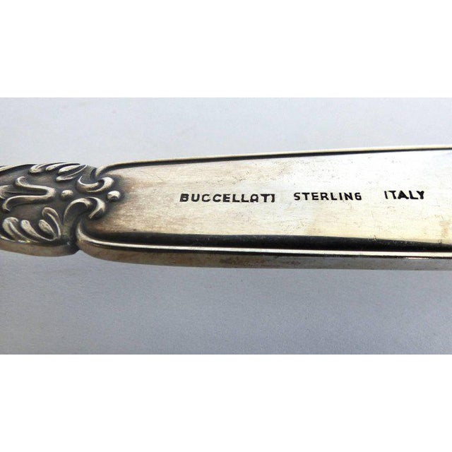Buccellati Elegant Sterling Silver Berry Spoon by Mario Buccellati For Sale - Image 4 of 8