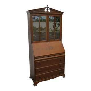 1940s Traditional Tall Secretary Writing Desk Cabinet Cupboard For Sale