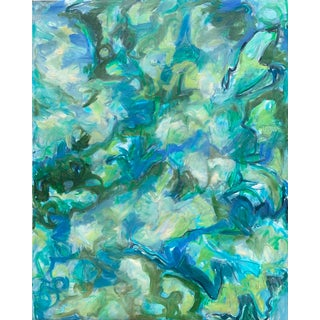 "XL ""In the Stream"" by Trixie Pitts Abstract Expressionist Oil Painting For Sale"