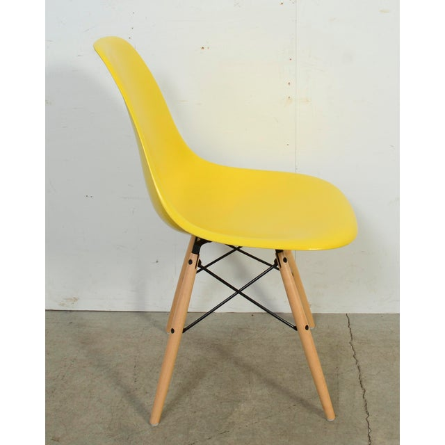2010s Eames for Herman Miller Yellow Fiberglass Chair For Sale - Image 5 of 9