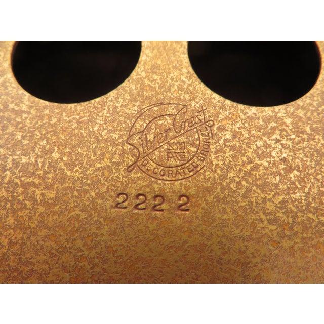 Antique Art Deco Silver Crest Bronze Desk Inkwell For Sale - Image 10 of 11
