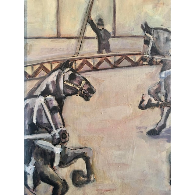 Contemporary Arthur Smith 'Trick Riding' Original From Circus Series Painting For Sale - Image 3 of 12