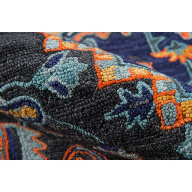 """Ibiza Navy Hand Tufted Area Rug 2'3"""" X 7'10"""" Runner For Sale - Image 4 of 7"""