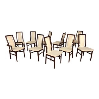 Schou Andersen Dining Chairs - Made in Denmark - Set of 10 For Sale
