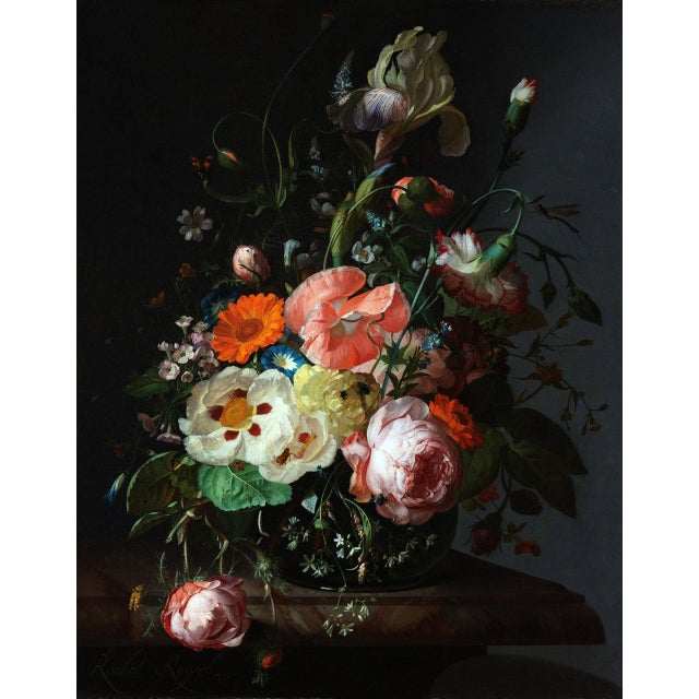 Rachel Ruysch Still Life With Flowers 1716 Unframed Giclée Print For Sale