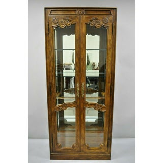 20th Century French Provincial Drexel Heritage Lighted Curio China Cabinet Display Case Preview