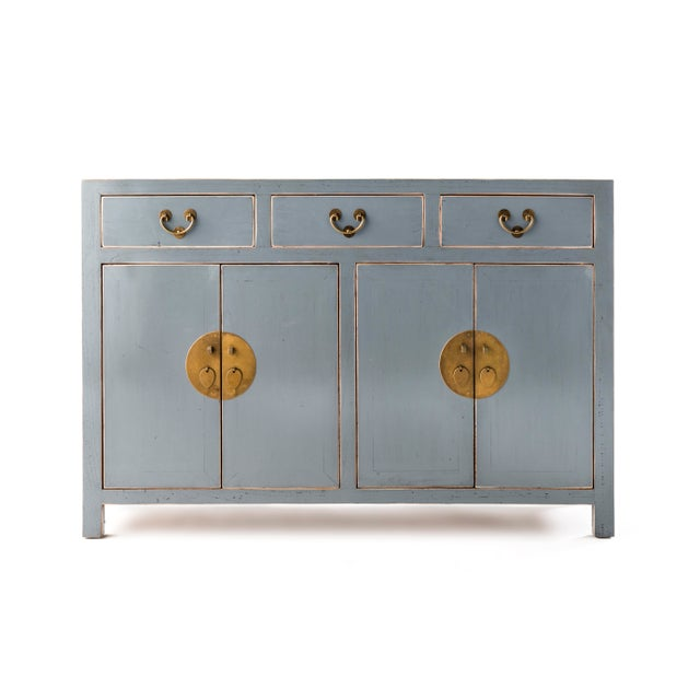 Early 21st Century Ming Gray Buffet Table For Sale - Image 5 of 5