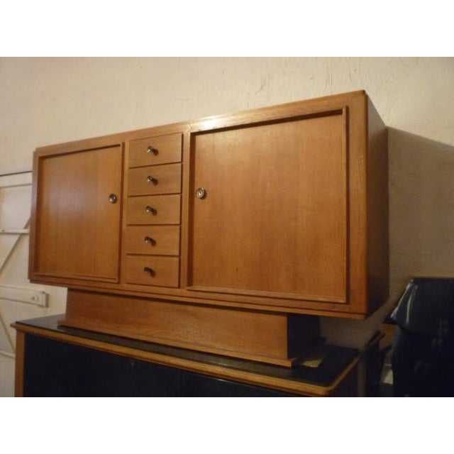 Bronze Maxime Old Stamped Superb Oak 2 Doors and Drawers Cabinet For Sale - Image 7 of 8