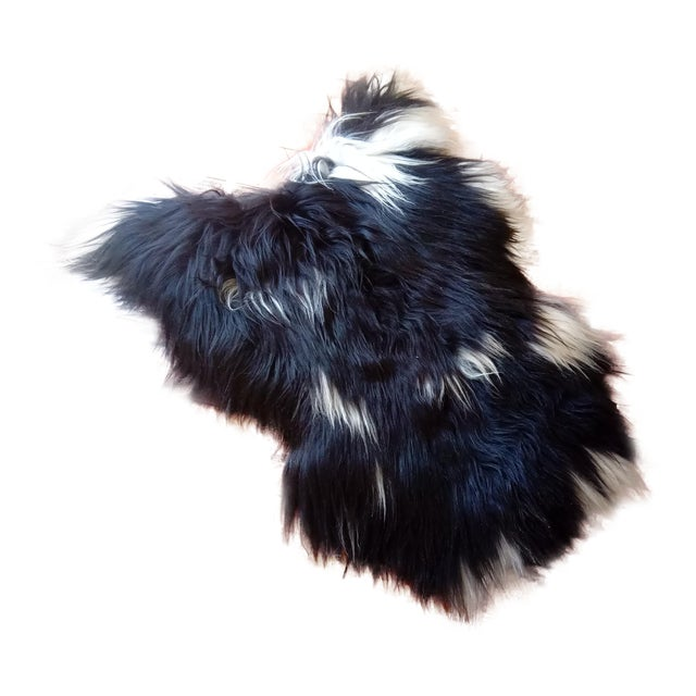 Gambrell Renard Black and White Sheepskin For Sale