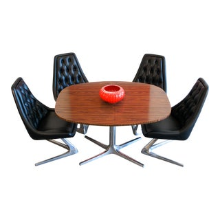 "1967 ""Chromecraft Sculpta"" Chairs & Table For Sale"
