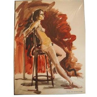 Michael Frary Vintage Nude Watercolor