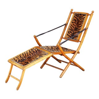 French Tiger Chaise Lounge