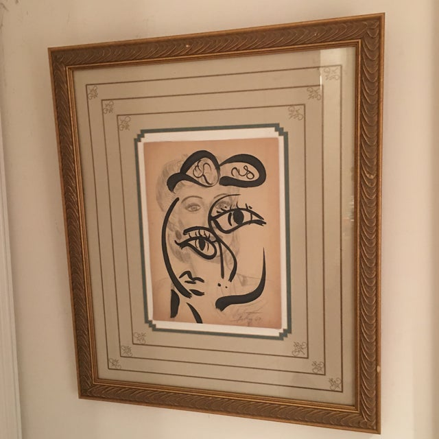 Abstract Peter Keil Early Mixed Media Drawing Painting For Sale - Image 3 of 12