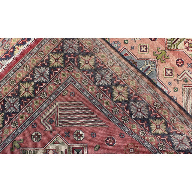 1950s Semi Antique Afshar Rug - 4′ × 6′ For Sale - Image 11 of 12