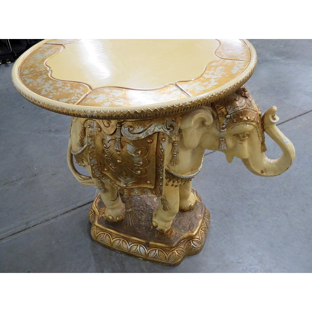 Gold Indian Elephant Center Table For Sale - Image 8 of 11