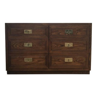 Henredon Walnut Campaign Style Chest