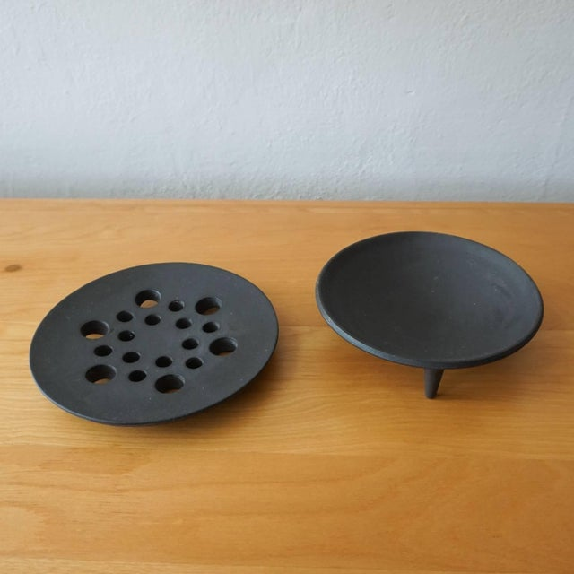 Mid-Century Modern Jens Quistgaard Iron Candleholder in Original Box For Sale - Image 3 of 7