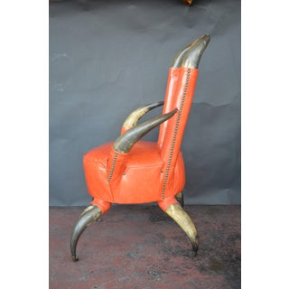 1940s Vintage Cow Horn Chair & Ottoman Preview