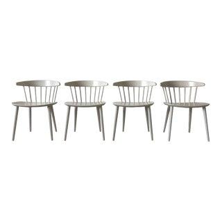 Stunning White J104 Dining Chairs by Jørgen Bækmark for FDB Møbler, 1960s