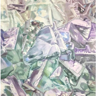 Green Fluorite Painting For Sale