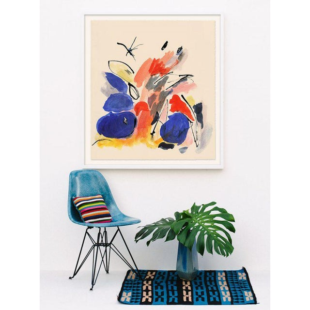 """Mid-Century Modern """"Blue Notes #1"""" Modern Painting, Unframed For Sale - Image 3 of 5"""