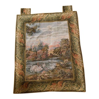 Vintage Woven Swans of Tapestry For Sale